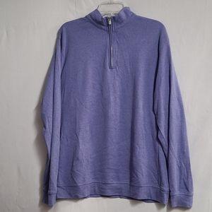 Peter Millar Purple 1/4 Zip Pullover L